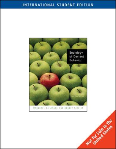 9780495603573: Sociology of Deviant Behavior, International Edition