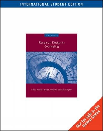 9780495603641: Research Design in Counseling