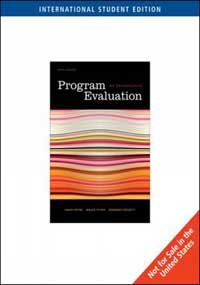 9780495604266: Program Evaluation An Introduction, 5 Ed
