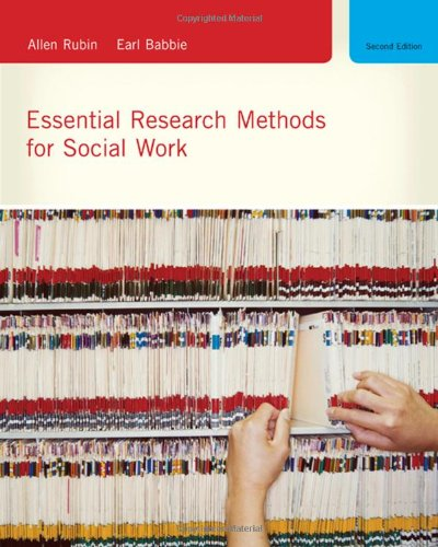 Essential Research Methods for Social Work (0495604372) by Allen Rubin; Earl R. Babbie
