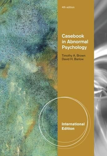 9780495604402: Casebook in Abnormal Psychology