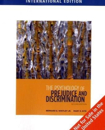 9780495605225: The Psychology of Prejudice and Discrimination