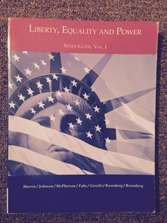 9780495733447: Liberty, Equality and Power, Study Guide, Vol. 1