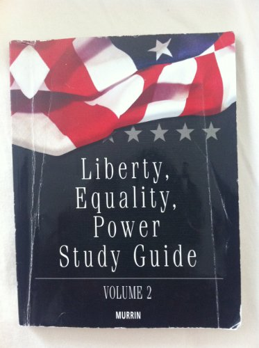 9780495733584: Liberty, Equality and Power Study Guide, Vol. 2