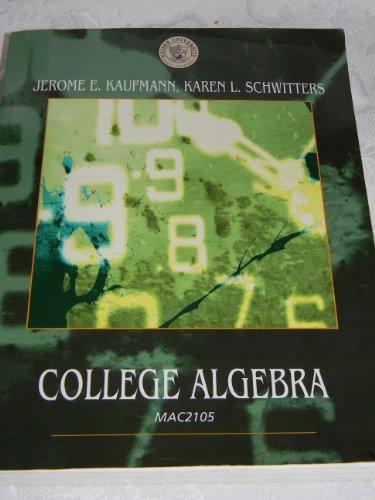 9780495739524: College Algebra MAC2105 for Keiser University