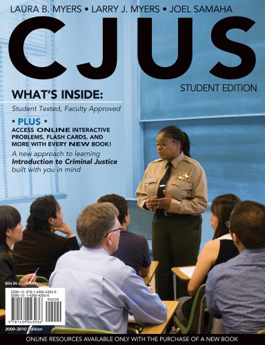 Bundle: CJUS (with Review Card and Criminal Justice CourseMate with eBook Printed Access Card) + ...