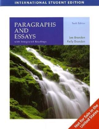 Paragraphs and Essays: Brandon, Lee E.; Brandon, Kelly