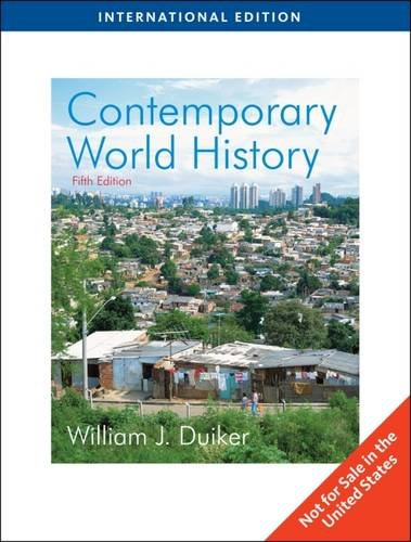 9780495797357: Contemporary World History, International Edition