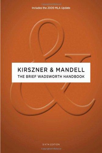 9780495797524: The Brief Wadsworth Handbook, 2009 MLA Update Edition (2009 MLA Update Editions)