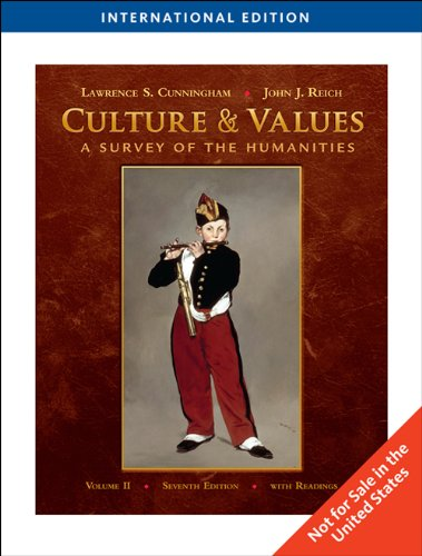 9780495798316: Culture and Values: v. 2: A Survey of the Humanities