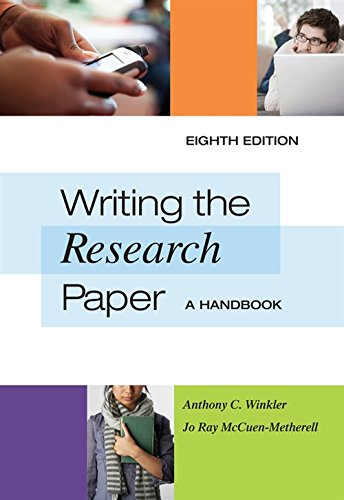 9780495799641: Writing the Research Paper: A Handbook, Spiral bound Version