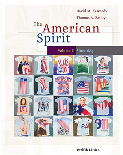 9780495800026: 2: The American Spirit: United States History as Seen by Contemporaries, Volume II