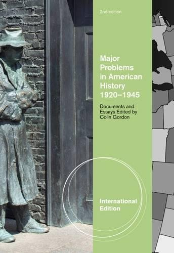 9780495800156: Major Problems in American History, 1920-1945: Documents and Essays, International Edition