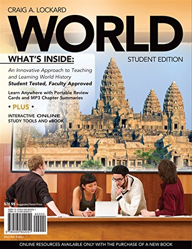 9780495802051: WORLD (with Review Cards and History CourseMate with eBook, Wadsworth World History Resource Center 2-Semester Printed Access Card) (Available Titles CourseMate)