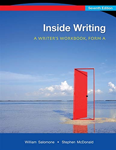 9780495802501: Inside Writing: A Writer's Workbook, Form A, 7th Edition