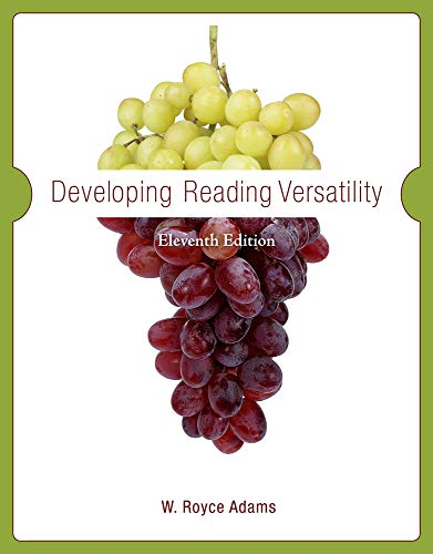 Developing Reading Versatility: Adams, W. Royce,