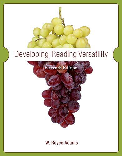 9780495802518: Developing Reading Versatility