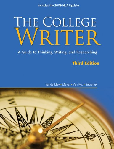 9780495803416: The College Writer: A Guide to Thinking, Writing, and Researching, 2009 MLA Update Edition