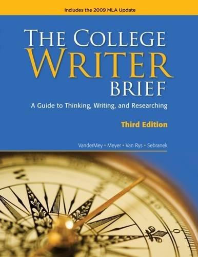 9780495803423: The College Writer: Brief 2009 MLA Update Edition (2009 MLA Update Editions)
