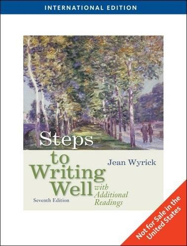 9780495803485: Steps to Writing Well with Additional Readings, International Edition (Seventh Edition)