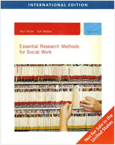 9780495803904: Essential Research Methods for Social Work, International Edition