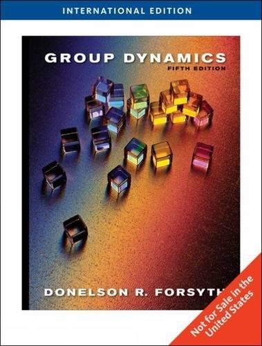 9780495804918: Group Dynamics, International Edition