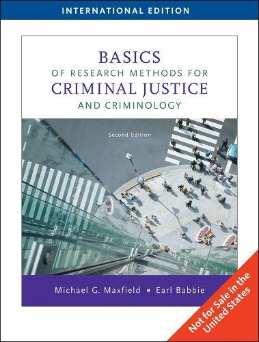 9780495808183: Basics of Research Methods for Criminal Justice and Criminology, International Edition