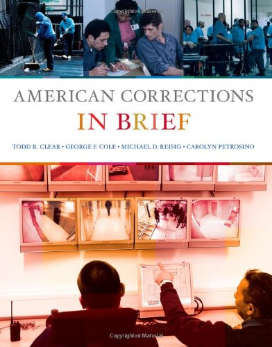 American Corrections in Brief: Todd R. Clear;