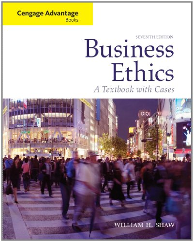 9780495808763: Business Ethics: A Textbook with Cases (Cengage Advantage Books)