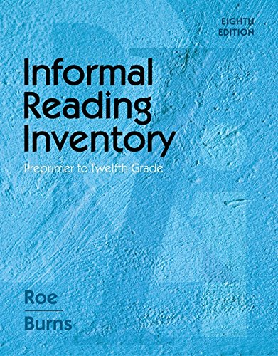 Informal Reading Inventory: Preprimer to Twelfth Grade: Burns, Paul C.,