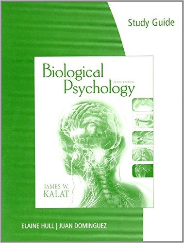9780495809166: Study Guide for Kalat's Biological Psychology