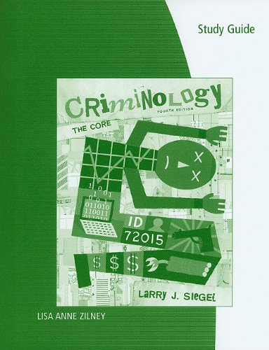 9780495810759: Study Guide for Siegel's Criminology: The Core