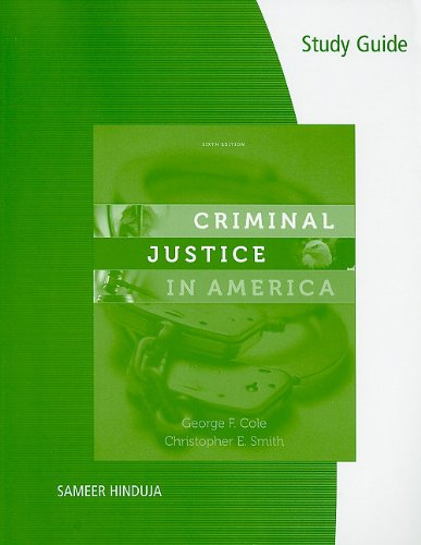 9780495810872: Study Guide for Cole/Smith's Criminal Justice in America