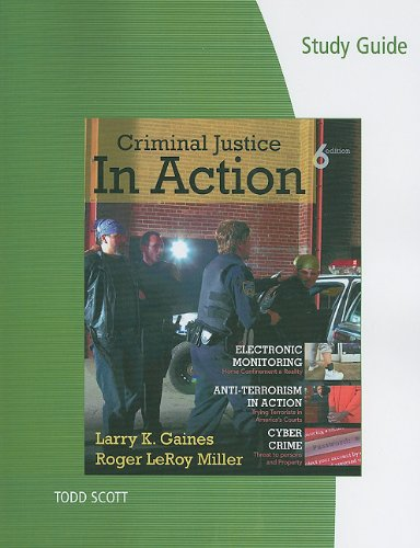 9780495811053: Study Guide for Gaines/Miller's Criminal Justice in Action