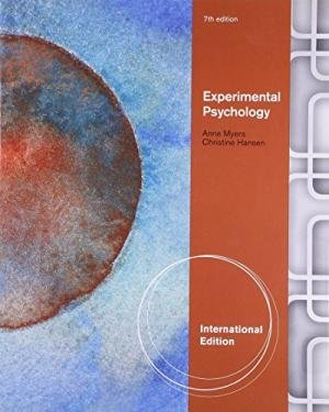 9780495811244: Experimental Psychology. Anne Myers, Christine Hansen