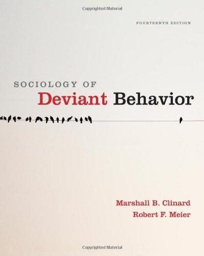 9780495811671: Sociology of Deviant Behavior
