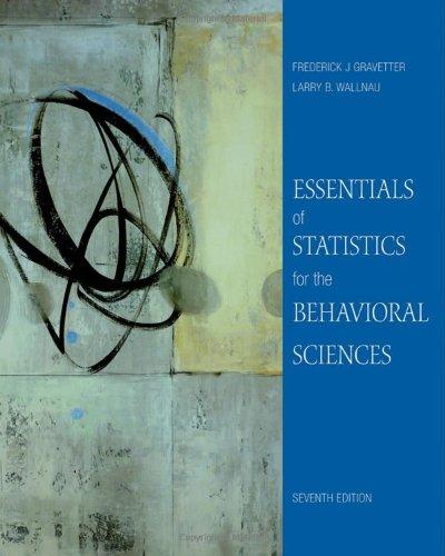 9780495812203: Essentials of Statistics for the Behavioral Sciences