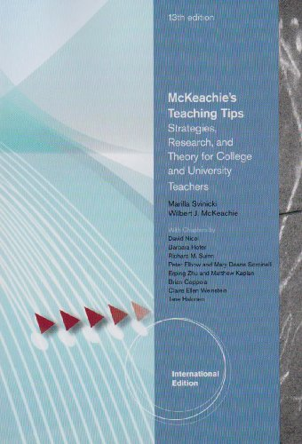 9780495812340: McKeachie's Teaching Tips: Strategies, Research, and Theory for College and University Teachers