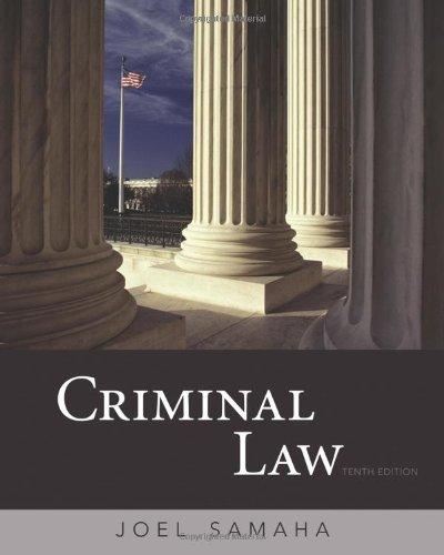 9780495812357: Criminal Law, International Edition