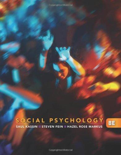 9780495812401: Social Psychology, 8th Edition