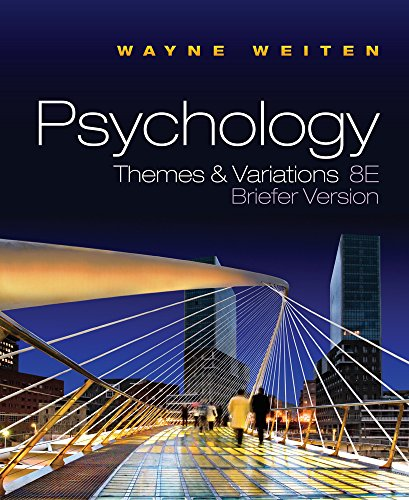 9780495813101: Psychology: Themes and Variations, Briefer Edition (with Concept Charts) (Available Titles CourseMate)