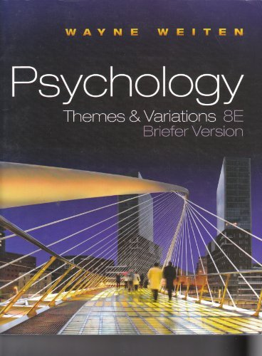 9780495813118: Psychology Themes & Variations 8E Briefer Version