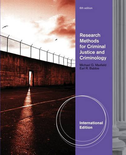 9780495813736: Research Methods for Criminal Justice and Criminology