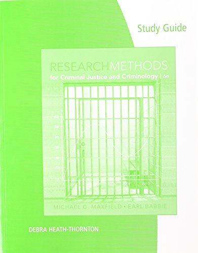 9780495813750: Study Guide for Maxfield/Babbie's Research Methods for Criminal Justice and Criminology