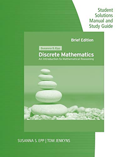 9780495826187: Student Solutions Manual and Study Guide for Epp's Discrete Mathematics: Introduction to Mathematical Reasoning