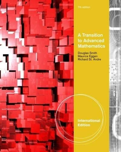 Transition to Advanced Mathematics Inter (0495826707) by Richard St.Andre