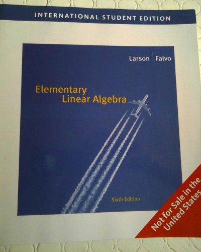 9780495829232: Elementary Linear Algebra, 6 Ed