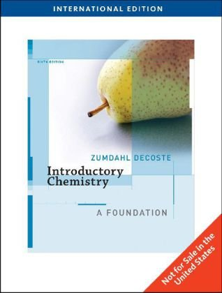 9780495830290: Introductory Chemistry: A Foundation