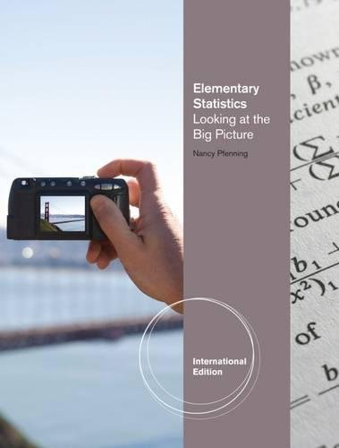 9780495831457: Elementary Statistics: Looking at the Big Picture, International Edition