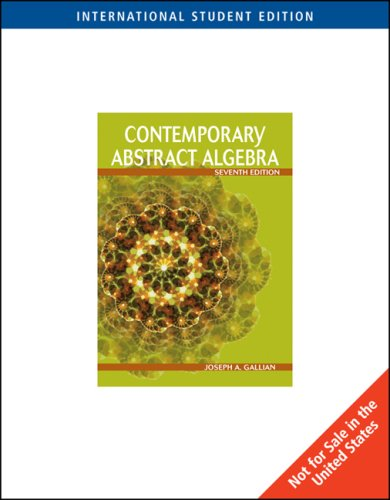 9780495831532: Contemporary Abstract Algebra, International Edition